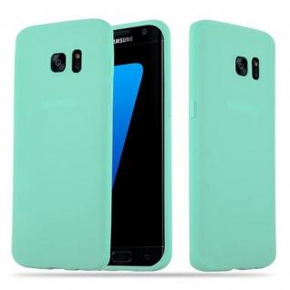Cadorabo Hülle für Samsung Galaxy S7 EDGE in CANDY BLAU - Handyhülle aus flexiblem TPU Silikon - Silikonhülle Schutzhülle Ultra Slim Soft Back Cover Case Bumper