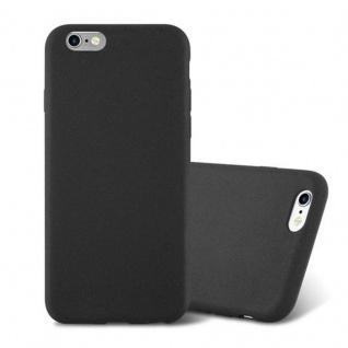 Cadorabo Hülle für Apple iPhone 6 / iPhone 6S in FROST SCHWARZ - Handyhülle aus flexiblem TPU Silikon - Silikonhülle Schutzhülle Ultra Slim Soft Back Cover Case Bumper