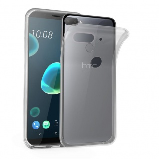 Cadorabo Hülle für HTC Desire 12 PLUS in VOLL TRANSPARENT - Handyhülle aus flexiblem TPU Silikon - Silikonhülle Schutzhülle Ultra Slim Soft Back Cover Case Bumper