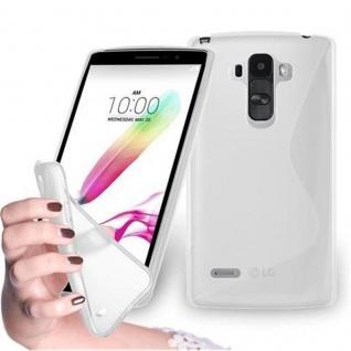 Cadorabo Hülle für LG G4 STYLUS in HALB TRANSPARENT ? Handyhülle aus flexiblem TPU Silikon ? Silikonhülle Schutzhülle Ultra Slim Soft Back Cover Case Bumper