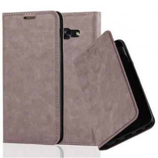 Cadorabo Hülle für Samsung Galaxy A5 2017 in KAFFEE BRAUN - Handyhülle mit Magnetverschluss, Standfunktion und Kartenfach - Case Cover Schutzhülle Etui Tasche Book Klapp Style