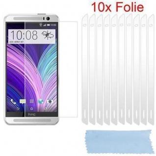 Cadorabo Displayschutzfolien für HTC ONE M8 (2.Gen.) - Schutzfolien in HIGH CLEAR ? 10 Stück hochtransparenter Schutzfolien gegen Staub, Schmutz und Kratzer