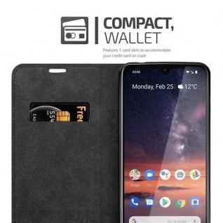 Cadorabo Hülle für Nokia 3.2 in APFEL ROT Handyhülle mit Magnetverschluss, Standfunktion und Kartenfach Case Cover Schutzhülle Etui Tasche Book Klapp Style - Vorschau 4