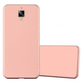 Cadorabo Hülle für OnePlus 3 / 3T in METALL ROSÉ GOLD ? Hardcase Handyhülle aus Plastik gegen Kratzer und Stöße ? Schutzhülle Bumper Ultra Slim Back Case Hard Cover
