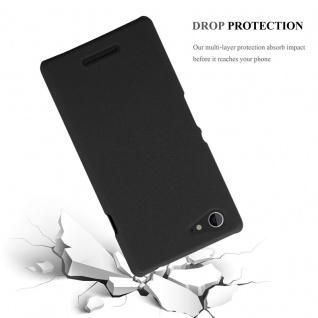 Cadorabo Hülle für Sony Xperia E3 in FROSTY SCHWARZ - Hardcase Handyhülle aus Plastik gegen Kratzer und Stöße - Schutzhülle Bumper Ultra Slim Back Case Hard Cover - Vorschau 4
