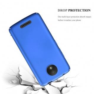 Cadorabo Hülle für Motorola MOTO C in METALL BLAU - Hardcase Handyhülle aus Plastik gegen Kratzer und Stöße - Schutzhülle Bumper Ultra Slim Back Case Hard Cover - Vorschau 3