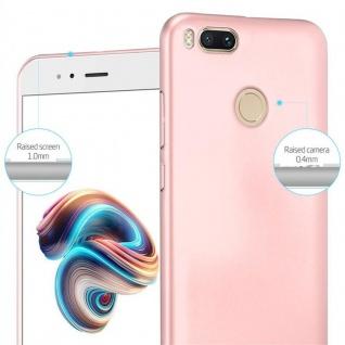 Cadorabo Hülle für Xiaomi Mi A1 / 5X in METALL ROSÉ GOLD ? Hardcase Handyhülle aus Plastik gegen Kratzer und Stöße ? Schutzhülle Bumper Ultra Slim Back Case Hard Cover - Vorschau 4