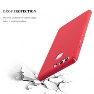 Cadorabo Hülle für Huawei P9 in FROSTY ROT - Hardcase Handyhülle aus Plastik gegen Kratzer und Stöße - Schutzhülle Bumper Ultra Slim Back Case Hard Cover - Vorschau 4