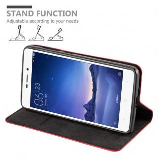 Cadorabo Hülle für Xiaomi RedMi 3S in APFEL ROT Handyhülle mit Magnetverschluss, Standfunktion und Kartenfach Case Cover Schutzhülle Etui Tasche Book Klapp Style - Vorschau 4