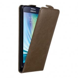 Cadorabo Hülle für Samsung Galaxy A5 2015 in KAFFEE BRAUN Handyhülle im Flip Design mit unsichtbarem Magnetverschluss Case Cover Schutzhülle Etui Tasche Book Klapp Style