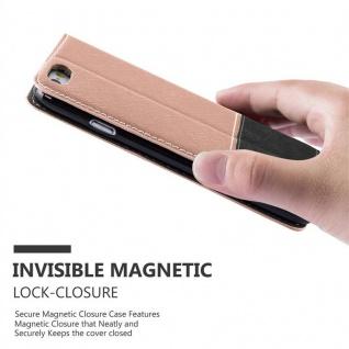 Cadorabo Hülle für Apple iPhone 6 PLUS / iPhone 6S PLUS in ROSÉ GOLD SCHWARZ ? Handyhülle mit Magnetverschluss, Standfunktion und Kartenfach ? Case Cover Schutzhülle Etui Tasche Book Klapp Style - Vorschau 3