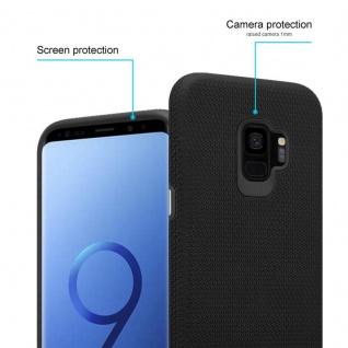 Cadorabo Hülle für Samsung Galaxy S9 in DAHLIEN SCHWARZ ? Outdoor Handyhülle mit extra Grip Anti Rutsch Oberfläche im Triangle Design aus Silikon und Kunststoff - Schutzhülle Hybrid Hardcase Back Case - Vorschau 2
