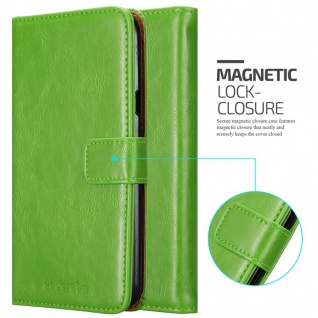 Cadorabo Hülle für LG X Power 2 in GRAS GRÜN - Handyhülle mit Magnetverschluss, Standfunktion und Kartenfach - Case Cover Schutzhülle Etui Tasche Book Klapp Style - Vorschau 2