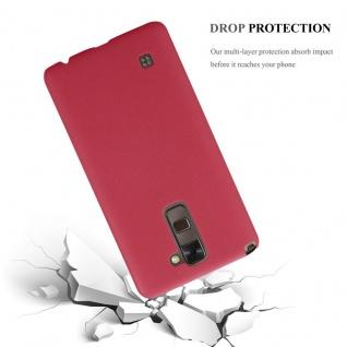 Cadorabo Hülle für LG Stylus 2 in FROSTY ROT - Hardcase Handyhülle aus Plastik gegen Kratzer und Stöße - Schutzhülle Bumper Ultra Slim Back Case Hard Cover - Vorschau 3