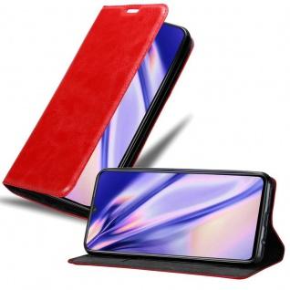 Cadorabo Hülle für Vivo X21S in APFEL ROT Handyhülle mit Magnetverschluss, Standfunktion und Kartenfach Case Cover Schutzhülle Etui Tasche Book Klapp Style