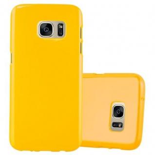 Cadorabo Hülle für Samsung Galaxy S7 in JELLY GELB - Handyhülle aus flexiblem TPU Silikon - Silikonhülle Schutzhülle Ultra Slim Soft Back Cover Case Bumper