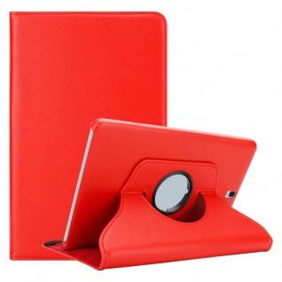 """Cadorabo Tablet Hülle für Samsung Galaxy Tab S3 (9, 7"""" Zoll) SM-T820N / T825N in MOHN ROT Book Style Schutzhülle OHNE Auto Wake Up mit Standfunktion und Gummiband Verschluss"""