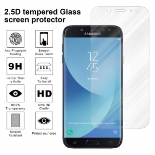 Cadorabo Panzer Folie für Samsung Galaxy J7 2018 - Schutzfolie in KRISTALL KLAR - Gehärtetes (Tempered) Display-Schutzglas in 9H Härte mit 3D Touch Kompatibilität - Vorschau 4