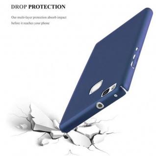 Cadorabo Hülle für Huawei P9 LITE in METALL BLAU - Hardcase Handyhülle aus Plastik gegen Kratzer und Stöße - Schutzhülle Bumper Ultra Slim Back Case Hard Cover - Vorschau 5