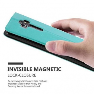 Cadorabo Hülle für LG G4 / G4 PLUS in MINT TÜRKIS ? Handyhülle mit Magnetverschluss, Standfunktion und 2 Sichtfenstern ? Case Cover Schutzhülle Etui Tasche Book Klapp Style - Vorschau 5