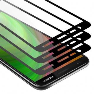 Cadorabo 3x Vollbild Panzer Folie für Nokia 5.1 2018 - Schutzfolie in TRANSPARENT mit SCHWARZ - 3er Pack Gehärtetes (Tempered) Display-Schutzglas in 9H Härte mit 3D Touch