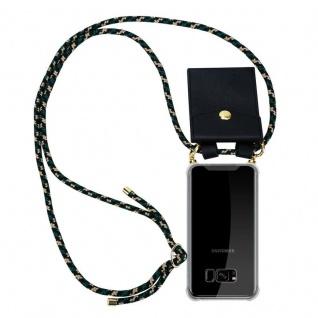 Cadorabo Handy Kette für Samsung Galaxy S8 in CAMOUFLAGE Silikon Necklace Umhänge Hülle mit Gold Ringen, Kordel Band Schnur und abnehmbarem Etui Schutzhülle