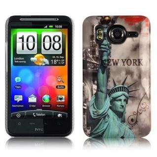 Cadorabo - Hard Cover für HTC DESIRE HD - Case Cover Schutzhülle Bumper im Design: NEW YORK - FREIHEITSSTATUE