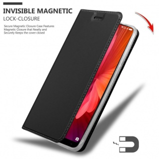 Cadorabo Hülle für Xiaomi Mi MIX 2 in CLASSY SCHWARZ - Handyhülle mit Magnetverschluss, Standfunktion und Kartenfach - Case Cover Schutzhülle Etui Tasche Book Klapp Style - Vorschau 3