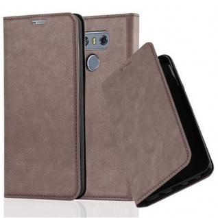 Cadorabo Hülle für LG G6 in KAFFEE BRAUN - Handyhülle mit Magnetverschluss, Standfunktion und Kartenfach - Case Cover Schutzhülle Etui Tasche Book Klapp Style