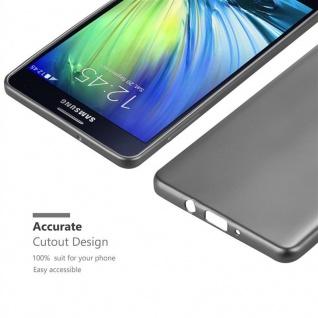 Cadorabo Hülle für Samsung Galaxy A7 2015 in METALLIC GRAU - Handyhülle aus flexiblem TPU Silikon - Silikonhülle Schutzhülle Ultra Slim Soft Back Cover Case Bumper - Vorschau 5