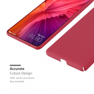 Cadorabo Hülle für Xiaomi Mi Mix 2 in FROSTY ROT - Hardcase Handyhülle aus Plastik gegen Kratzer und Stöße - Schutzhülle Bumper Ultra Slim Back Case Hard Cover - Vorschau 4