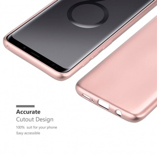 Cadorabo Hülle für Samsung Galaxy S9 PLUS in METALLIC ROSÉ GOLD - Handyhülle aus flexiblem TPU Silikon - Silikonhülle Schutzhülle Ultra Slim Soft Back Cover Case Bumper - Vorschau 5