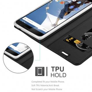 Cadorabo Hülle für Motorola NEXUS 6 in CLASSY SCHWARZ - Handyhülle mit Magnetverschluss, Standfunktion und Kartenfach - Case Cover Schutzhülle Etui Tasche Book Klapp Style - Vorschau 2