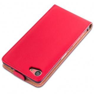 Cadorabo Hülle für Sony Xperia Z5 COMPACT in CHILI ROT - Handyhülle im Flip Design aus glattem Kunstleder - Case Cover Schutzhülle Etui Tasche Book Klapp Style - Vorschau 4