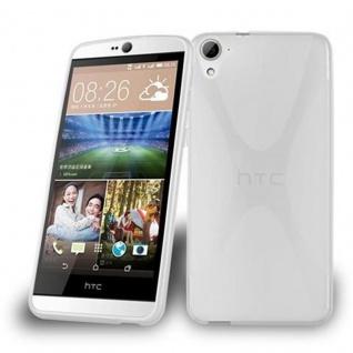 Cadorabo Hülle für HTC Desire 826 in HALB TRANSPARENT ? Handyhülle aus flexiblem TPU Silikon ? Silikonhülle Schutzhülle Ultra Slim Soft Back Cover Case Bumper