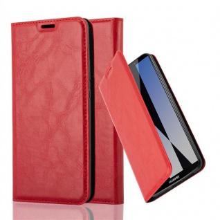 Cadorabo Hülle für Huawei MATE 10 PRO in APFEL ROT - Handyhülle mit Magnetverschluss, Standfunktion und Kartenfach - Case Cover Schutzhülle Etui Tasche Book Klapp Style