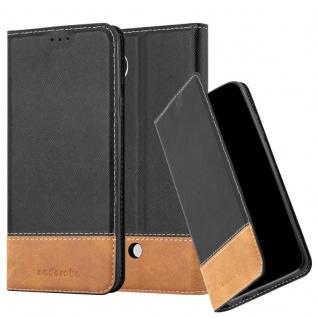 Cadorabo Hülle für LG NEXUS 5 in SCHWARZ BRAUN ? Handyhülle mit Magnetverschluss, Standfunktion und Kartenfach ? Case Cover Schutzhülle Etui Tasche Book Klapp Style