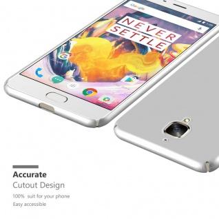 Cadorabo Hülle für OnePlus 3 / 3T in METALL SILBER ? Hardcase Handyhülle aus Plastik gegen Kratzer und Stöße ? Schutzhülle Bumper Ultra Slim Back Case Hard Cover - Vorschau 5