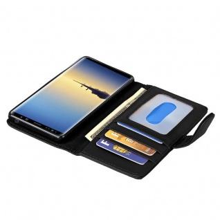 Cadorabo Hülle für Samsung Galaxy NOTE 8 in OXID SCHWARZ ? Handyhülle mit Magnetverschluss und 3 Kartenfächern ? Case Cover Schutzhülle Etui Tasche Book Klapp Style - Vorschau 2