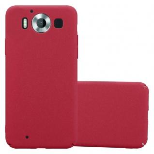 Cadorabo Hülle für Nokia Lumia 950 in FROSTY ROT Hardcase Handyhülle aus Plastik gegen Kratzer und Stöße Schutzhülle Bumper Ultra Slim Back Case Hard Cover