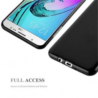 Cadorabo Hülle für Samsung Galaxy J7 2015 in JELLY SCHWARZ - Handyhülle aus flexiblem TPU Silikon - Silikonhülle Schutzhülle Ultra Slim Soft Back Cover Case Bumper - Vorschau 4