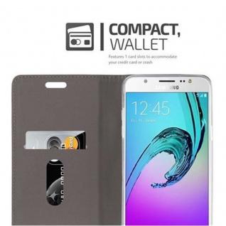 Cadorabo Hülle für Samsung Galaxy J7 2016 in HELL GRAU BRAUN - Handyhülle mit Magnetverschluss, Standfunktion und Kartenfach - Case Cover Schutzhülle Etui Tasche Book Klapp Style - Vorschau 3