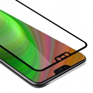 Cadorabo Vollbild Panzer Folie für Nokia 7.1 2018 - Schutzfolie in TRANSPARENT mit SCHWARZ - Gehärtetes (Tempered) Display-Schutzglas in 9H Härte mit 3D Touch