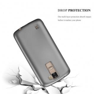 Cadorabo Hülle für LG K8 2016 in METALLIC GRAU - Handyhülle aus flexiblem TPU Silikon - Silikonhülle Schutzhülle Ultra Slim Soft Back Cover Case Bumper - Vorschau 3
