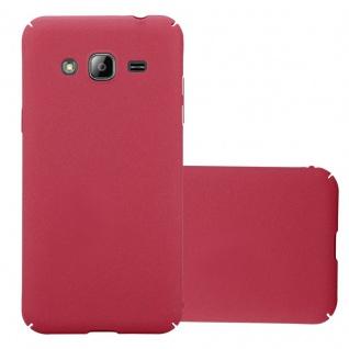 Cadorabo Hülle für Samsung Galaxy J3 / J3 DUOS 2016 in FROSTY ROT - Hardcase Handyhülle aus Plastik gegen Kratzer und Stöße - Schutzhülle Bumper Ultra Slim Back Case Hard Cover