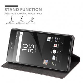 Cadorabo Hülle für Sony Xperia Z in KAFFEE BRAUN - Handyhülle mit Magnetverschluss, Standfunktion und Kartenfach - Case Cover Schutzhülle Etui Tasche Book Klapp Style