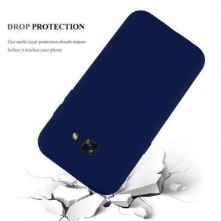 Cadorabo Hülle für Samsung Galaxy A3 2017 in CANDY DUNKEL BLAU - Handyhülle aus flexiblem TPU Silikon - Silikonhülle Schutzhülle Ultra Slim Soft Back Cover Case Bumper - Vorschau 3