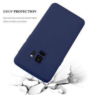 Cadorabo Hülle für Samsung Galaxy S9 in CANDY DUNKEL BLAU - Handyhülle aus flexiblem TPU Silikon - Silikonhülle Schutzhülle Ultra Slim Soft Back Cover Case Bumper - Vorschau 3