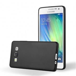Cadorabo Hülle für Samsung Galaxy A5 2015 in METALLIC SCHWARZ - Handyhülle aus flexiblem TPU Silikon - Silikonhülle Schutzhülle Ultra Slim Soft Back Cover Case Bumper