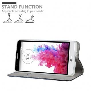 Cadorabo Hülle für LG G3 MINI / G3S in DUNKEL BLAU SCHWARZ - Handyhülle mit Magnetverschluss, Standfunktion und Kartenfach - Case Cover Schutzhülle Etui Tasche Book Klapp Style - Vorschau 4